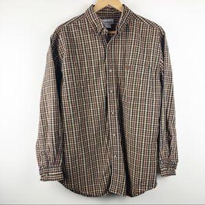 🌿 Carhartt Large Plaid Button Down Shirt